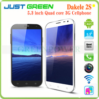 2014 New 5.3 Inch Cellphone DAKELE 2S MC002 IPS MTK6589T Quad Core 2GB 32GB 13MP 2 cameras Dual SIM Android 4.2 Mobile Phone