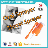Custom oral sprayer pump fine mist spray pump medical sprayer in any color with long nozzle 18 410 use in bottle