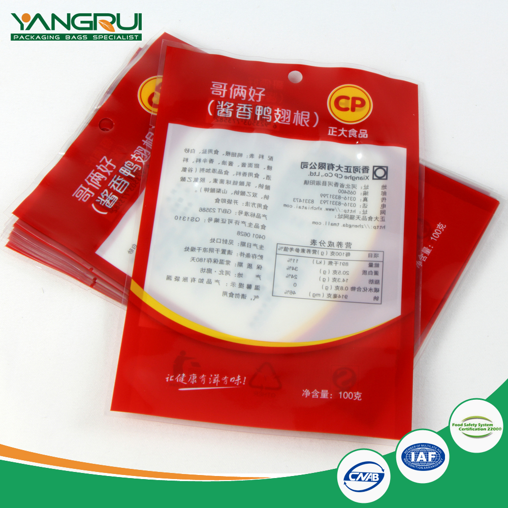 microwaveable rotort pouch heat seal top good quality transparent retort bag 3 side seal food packing pouch