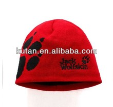 2013 Fashion knitted beanie hat/knitted fabric products the best