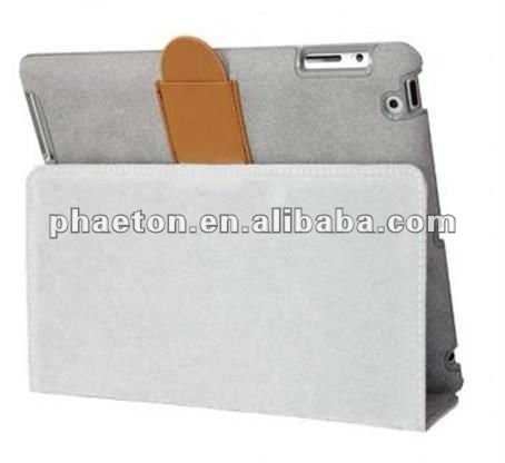 fold smart cover leather case stand for ipad 2
