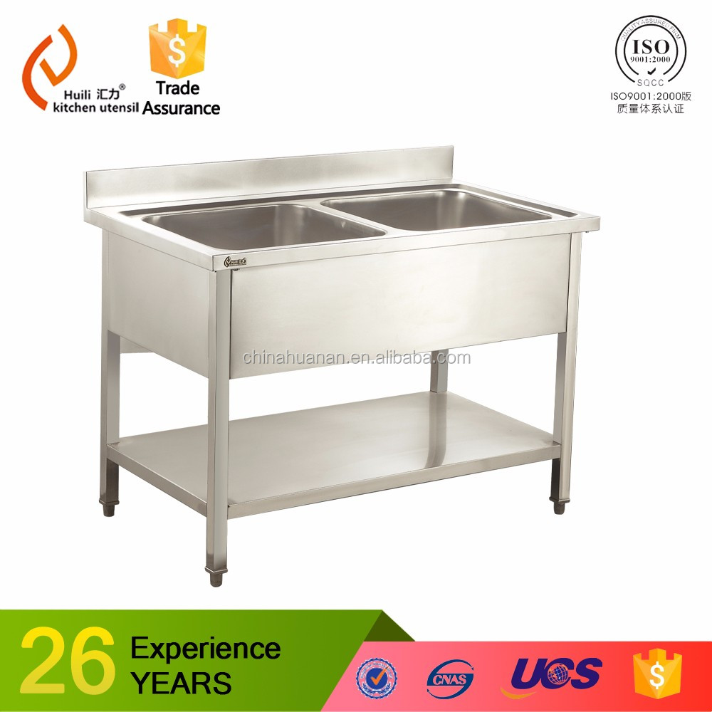 700x700mm single bowl no drainboard stainless steel sink unit with frame and undershelf