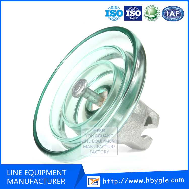 High Voltage Application U40 BP Fog type suspension Toughened glass insulators