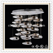 Hanging Clear Shape Antique Hand Blown Glass Lamps For Hotel