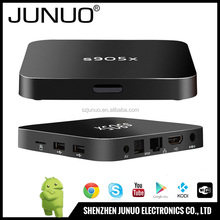 JUNUO shenzhen manufacture OEM android 6.0 google play store app free download hd internet tv set top box