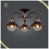 New Design Glass Antique Ceiling Lamp Iron Base, Ceiling Lamp for Hotel