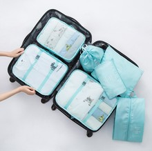 Wholesale storage travel bag set for packing clothes 7 pieces one set