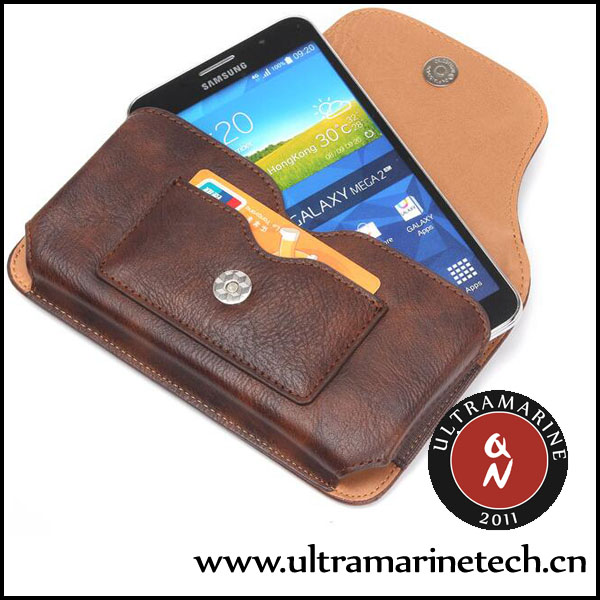 Ultramarine Universal <strong>Phone</strong> Retro Pockets Rhinoceros Pattern Card Slots Clip Leather Pouch 6.3 Inch For Samsung <strong>Phone</strong>