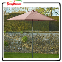 7.5' Aluminium 6 steel ribs Outdoor garden patio umbrella, patio umbrella for promotional
