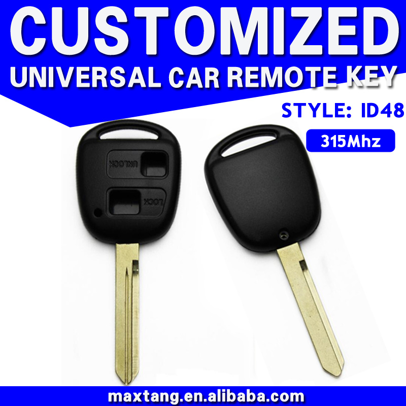 Car Remote Control Key Blank 2 Buttons Universal Car Keys For Toyota South Africa Model 315MHz MTF-100771