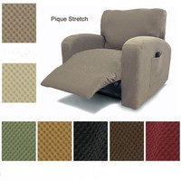 stretch pique recliner sofa cover