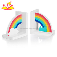 2017 wholesale kids wooden rainbow bookends new design children wooden rainbow bookends nursery wooden rainbow bookends W08D065
