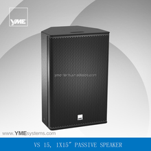 VS 15 single 15inch passive portable speaker built-in crossover pro audio dj equipment