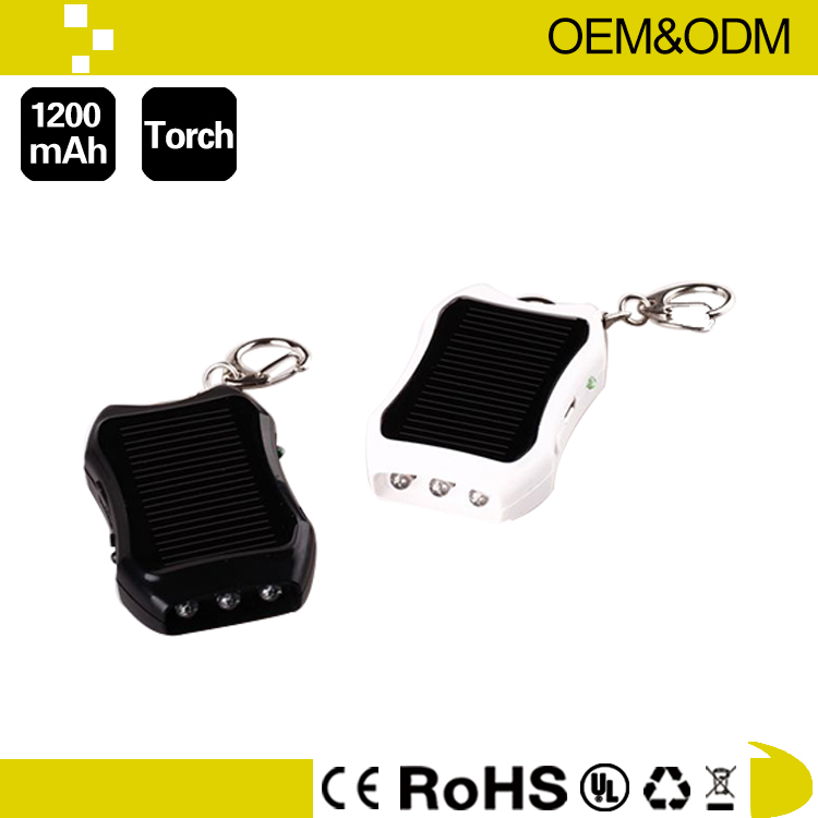 With metal keyring Mini Battery Solar Charger System with Mono solar panel solar mobile phone charger
