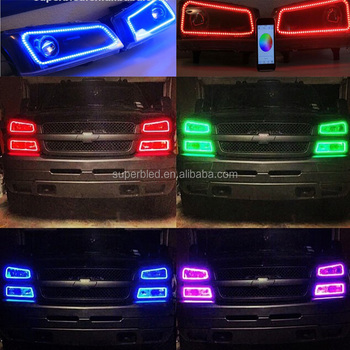 DC12V RGB color halo rings led for chevrolet cruze angel eye headlight
