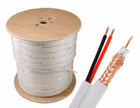 Camera RG59 Coaxial Cable With Power Cable 75ohm 100Meters/Roll Cheap Price