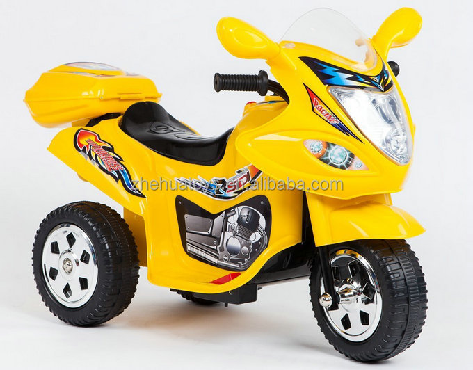 Ride on motorcycle electric tricycle for kids toy car 3 8 for Motorized cars for 6 year olds