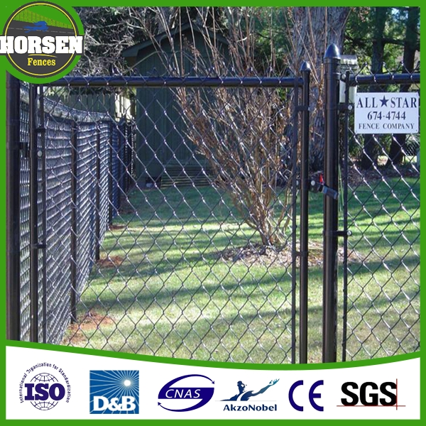 factory high quality low price chain link fence gate (factory)
