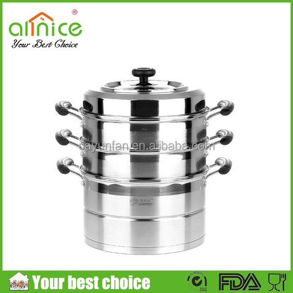 s/s201 30cm stainless steel steamer pot/4 layer stainless steamer/korea cookware pot