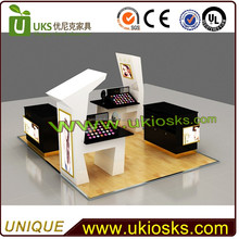 2016 Chinese new year celebration mall cosmetic kiosk&cosmetic mall kiosk for beauty soap for glowing skin with unique 3d design