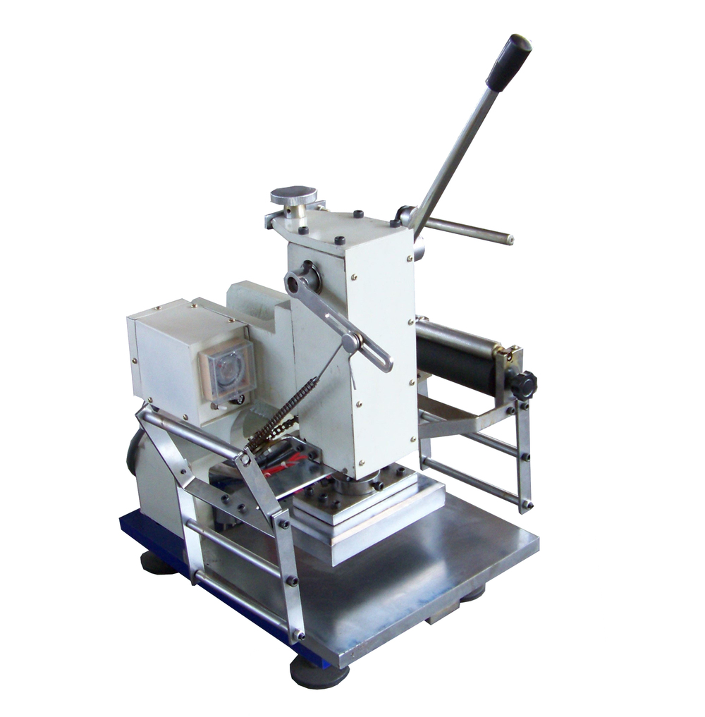 TJ-18 high quality Desktop small Manual hot foil stamping machine for wedding invitation <strong>card</strong>, PU leather in China