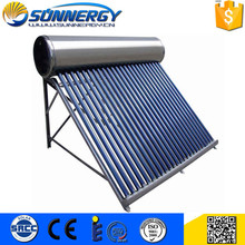 Well Designed evacuated tube mini solar water heater manifold for home