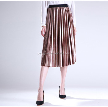 2017 spring new quality Women Skirt Pleated