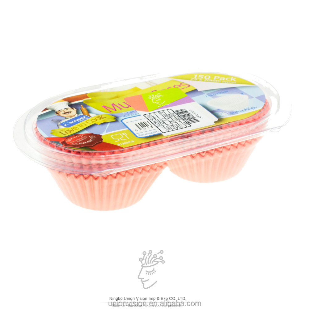 Food grade good quality 150 pcs paper cupcake cases