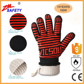 Chinese manufacture heat resistant oven gloves