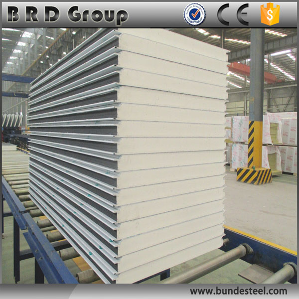 light weight panel pu sandwich wall panel for warehouse
