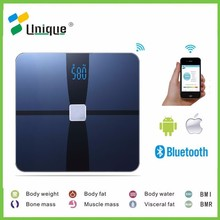 Unique health digital electric weight muscle body fat bathroom bluetooth scale