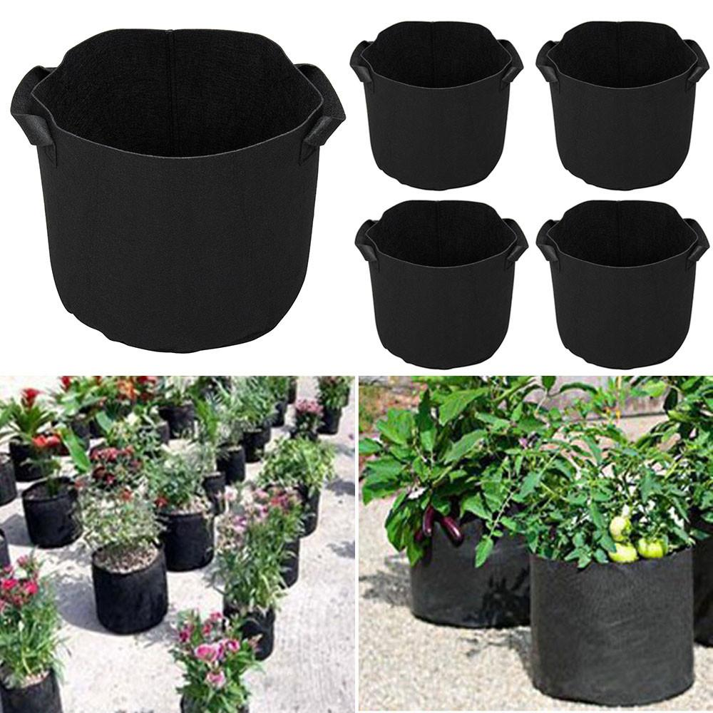 5 Gallon Round Grow Bag w/ Handles Plant Pouch Garden Hydroponic