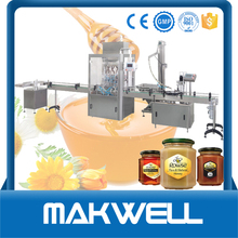 Automatic Bee Plastic Container Factory Price Jar Liquid Piston Full Bottle Royal Honey Filling Machine With Mixer, Heater