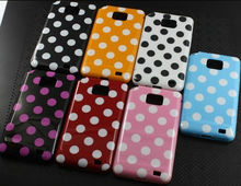 Polka Dots Soft TPU Phone Case Cover For Samsung Galaxy S2 SII i9100