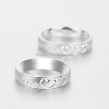 newest design unique 925 silver heart shape couple rings