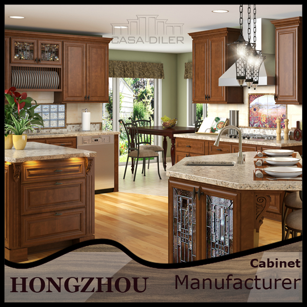 Mahogany Imported Wood Kitchen Cabinets Made in China