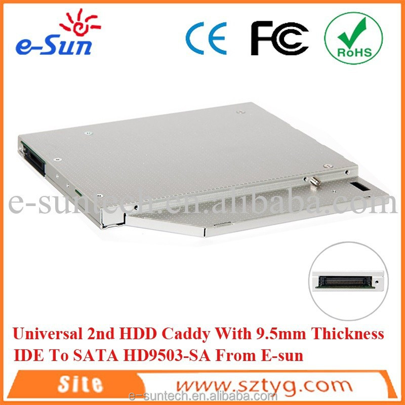 Secondary IDE/PATA TO SATA Hard Drive Adapter CD DVD-ROM Optical Bay HDD Caddy LL111102