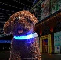 Customized design eco-friendly dog led collar for pet new light up dog collar