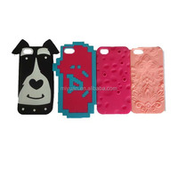 fashion animal shape silicon rubber PVC mobile phone cellphone case outer cover