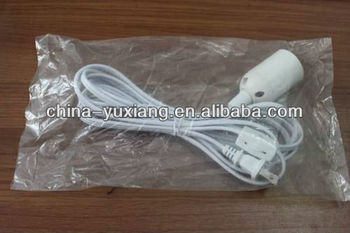 lamp power cord with socket