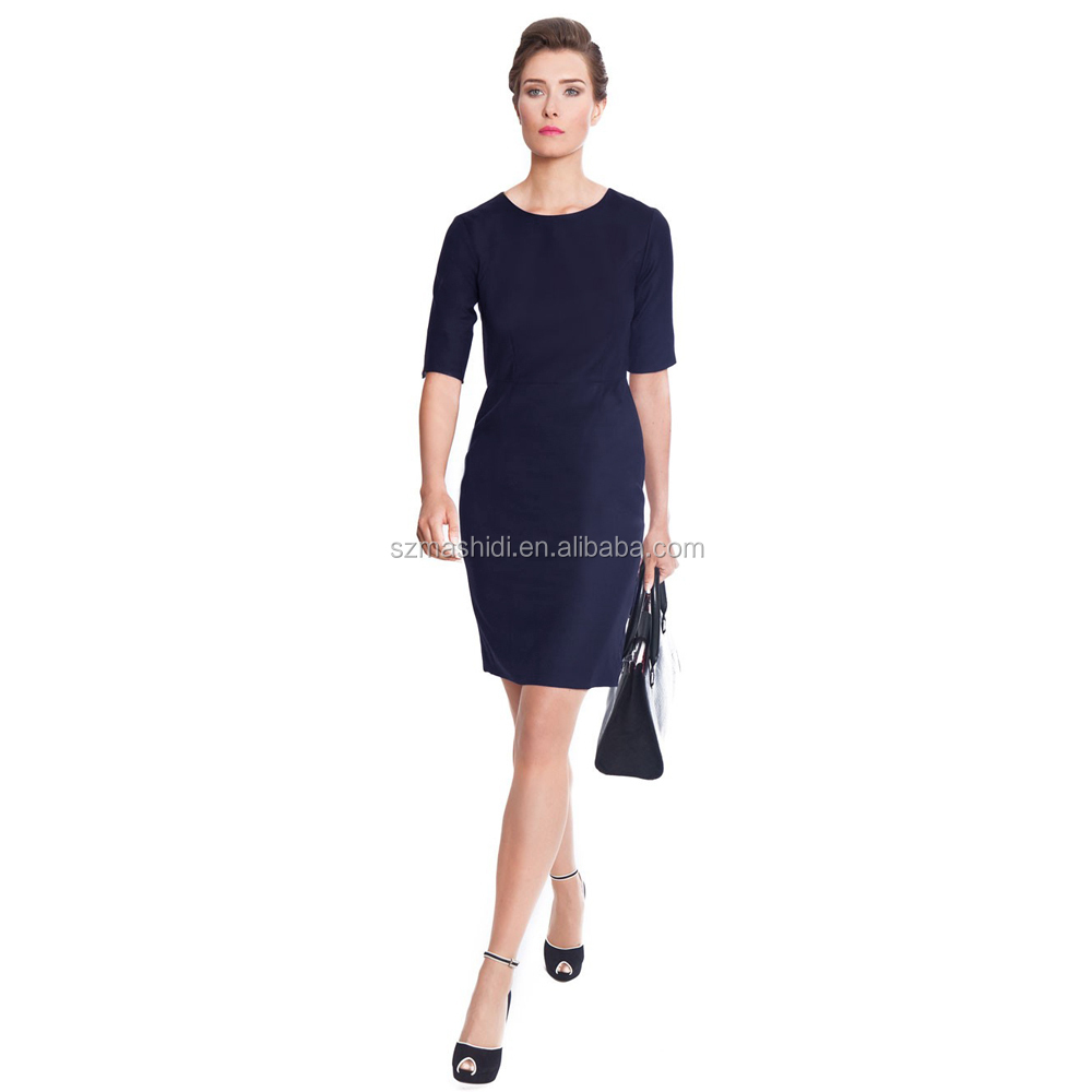 Short sleeve one piece free sample office uniform designs for Office uniform design catalogue