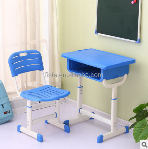 Fixed Single School Desk and Chair/School Furniture/Plastic table and chair