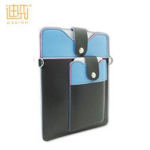 High quality hanging pu leather fancy tablet pc case with small leather pouches
