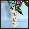 handmade white colored glass floral vases for home decoration