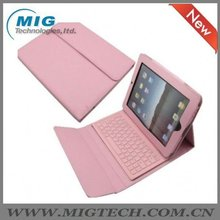leather tablet case for ipad case for ipad 2 3 4, keyboard PU leather case with high quality with bluetooth 3.0