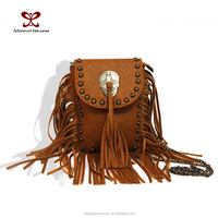 2015 Women Fringe Bag Leather PU Small Inclined Shoulder Bag Fashion Mobile phone package Tangerine Tassel bags