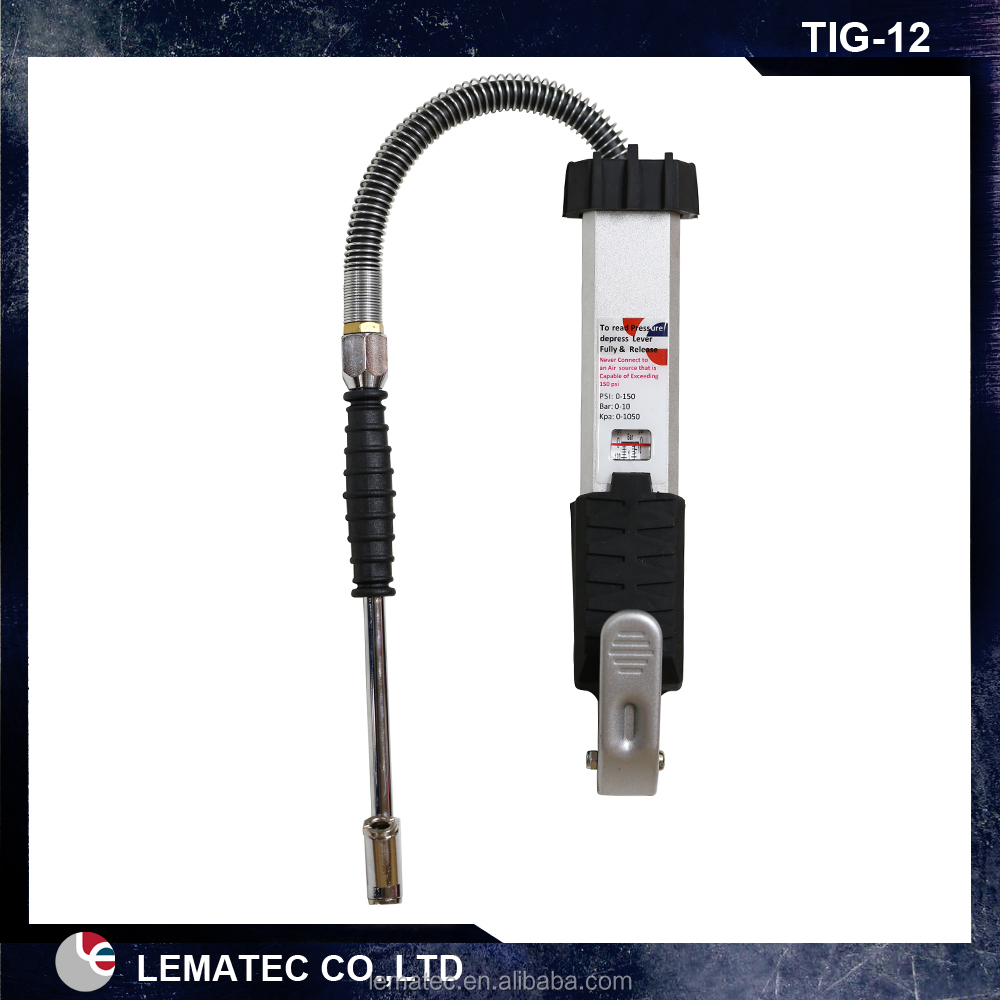 Tire Air Pressure Gauge and Inflator,Truck Tyre Inflator with Dial Gauge