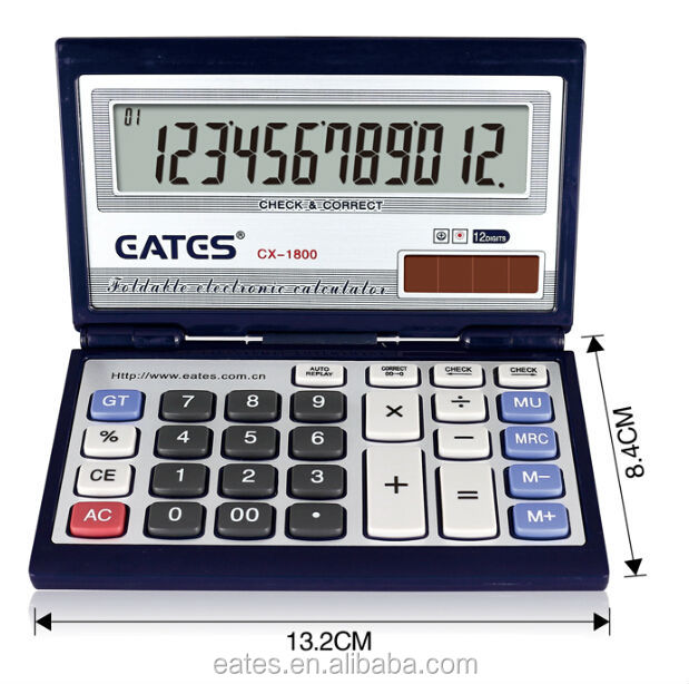 Foldable type office gift calculator 8855 with check function