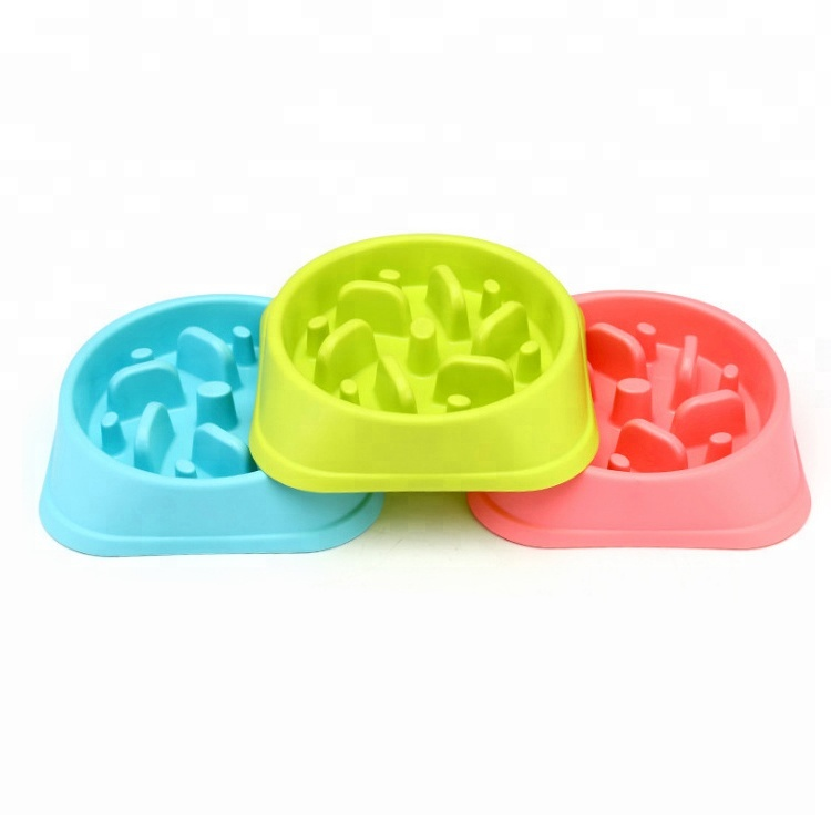 Pet Food Bowl Slow Feed Slow Down Eating Dog Pet Feeder Dog Food Bowl Plastic Pet Bowl