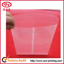 clear plastic file envelopes for cards